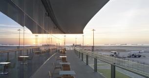 Airside Terrace At Dawn